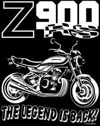 "Print ""Z900RS THE LEGEND IS BACK"" t-shirt"