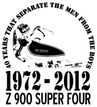 Print Z 900 40th Anniversary Shirt 1972 - 2012
