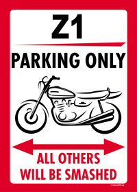 Z1 PARKING ONLY US-style parking sign