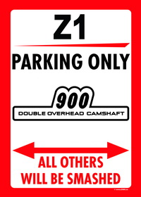 Z1 PARKING ONLY sign