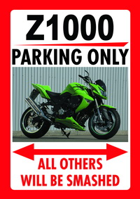 Z1000 PARKING ONLY parking sign