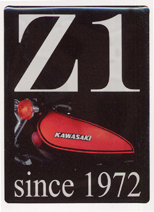 """Z1 since 1972"" Doming-Sticker"