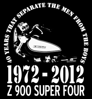 T-Shirt Z 900 40th Anniversary Shirt 1972 - 2012