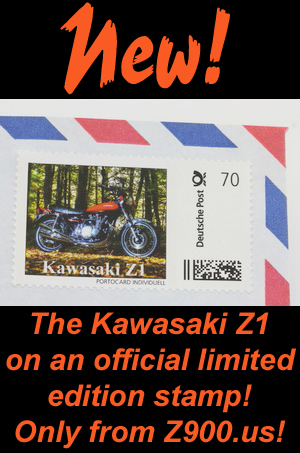 NEW! The Kawasaki Z1 limited edition stamp!