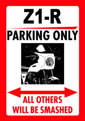 Z1-R PARKING ONLY parking sign