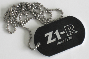 Logo tag with Z1-R since 1978 logo