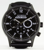 Z900.us ZRX since 1997 Chronograph matt black with black face 43 mm