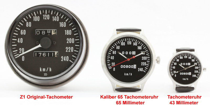 Z1, Z 900, KZ 900 Caliber 65 speedometer km/h and mph watches