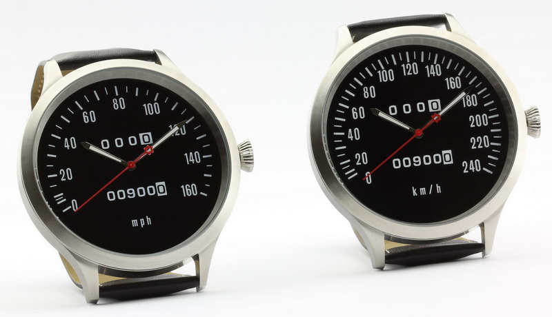Z1 speedometer watch 43 mm with km/h scale